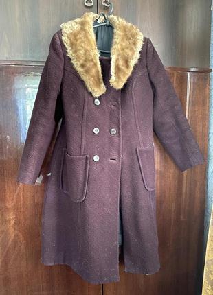 Пальто зимнее марсала з норкой зимнее тёплое!!! натуральное су...
