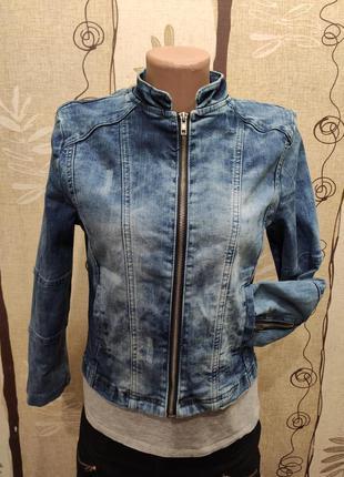 Top secret укороченная джинсовая куртка, пиджак, джинсовка на ...