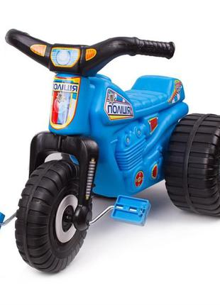 Трицикл, велосипед трехколесный, Трайк ТехноК полиция 4128 (bc...
