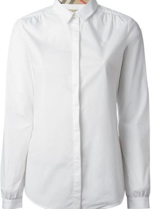 Burberry рубашка люксового качества белая классика оригинал