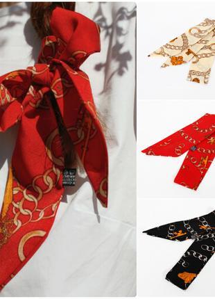 Узкий шарф лента для волос бант для причесок