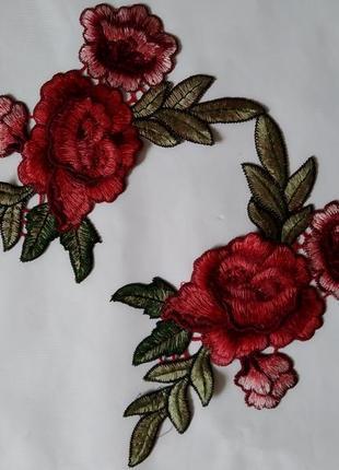 Патчи вышивка аппликация нашивки розы цветы