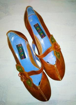 Милые дизайнерские туфельки с мягчайшей кожи/ ручная работа