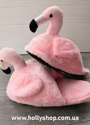 Тапочки фламинго. Тапочки единорог.