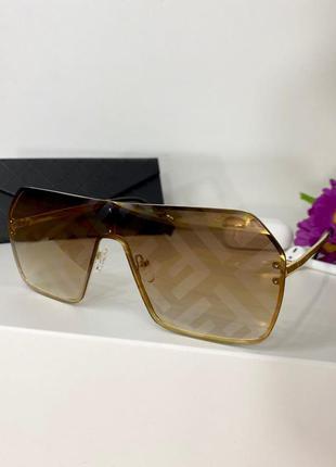 Очки женские, модные, под бренд, принт, 2020, от солнца