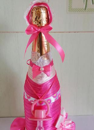 Декор бутылок для новоражденого ребёнка на заказ