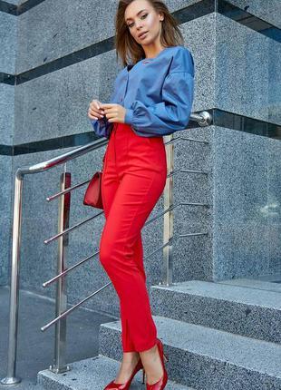 Шикарные кэжуал брюки с завышенной талией