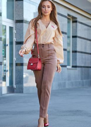 Роскошные кэжуал брюки с завышенной талией