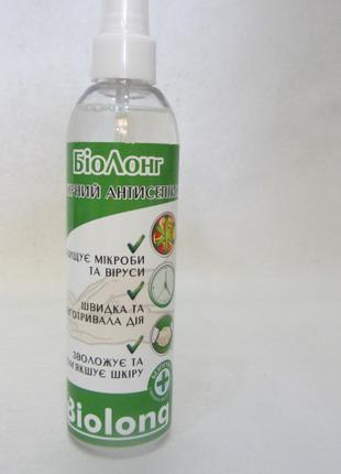 Средство антисептик для кожи и рук БиоЛонг, 250 мл. (спрей)
