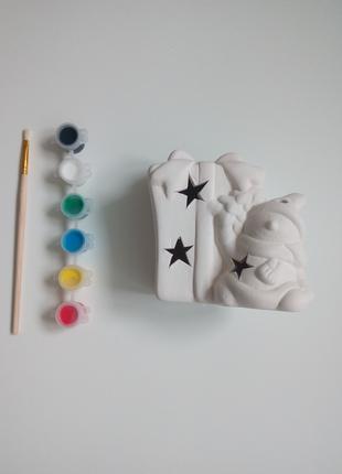 Набір дитячий для творчості, Фігурка - нічник «Подарунок»
