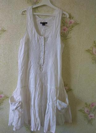 Фирменное платье сарафан из натуральной ткани mango