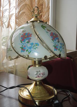 Лампа настольная ,стекло-эмаль  сенсорная