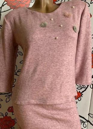 Ангоровый костюм - юбка и кофта 48 размер✨💖🚒👸🏻