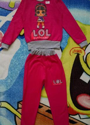 Новый костюм с лол для девочки 4-5 лет