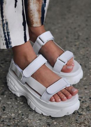 Женские сандалии buffalo london sandals в белом цвете (36-40)