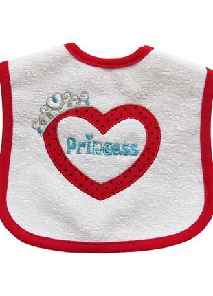 Слюнявчик Princess для девочки на подкладке