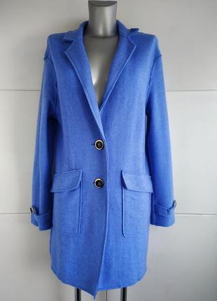 Стильный кардиган, лёгкое пальто tu голубого цвета