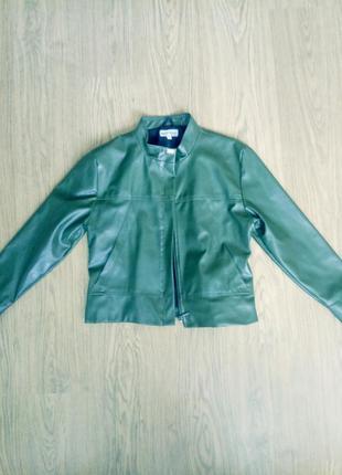 Прикольная курточка из хорошего кожзама,р.l
