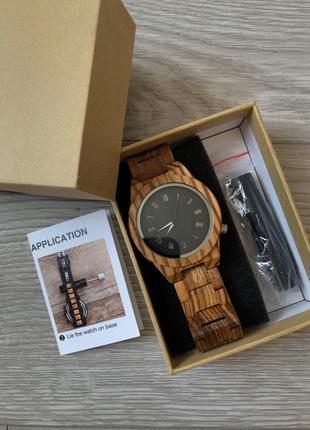 Наручний бамбуковий деревяний годинник