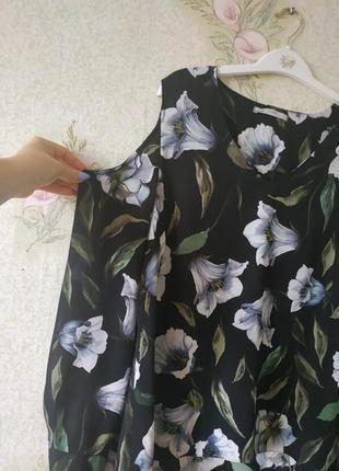 Фирменная блузка george с открытыми плечами
