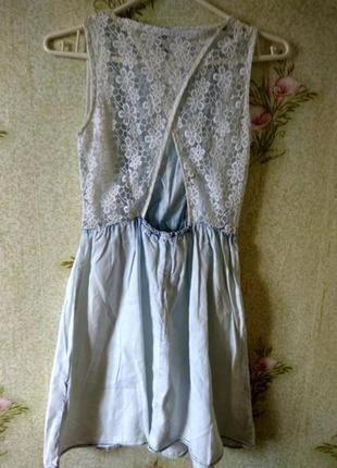 Летнее платье из натуральной ткани denim co