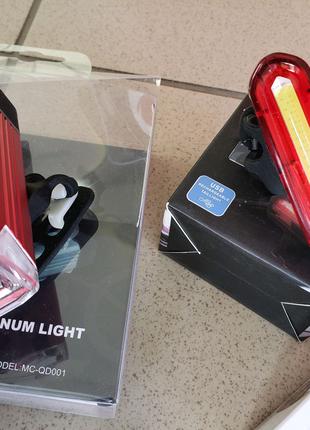 Фонарик фара стоп сигнал LED для велосипеда