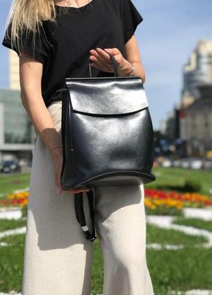 Сумка -рюкзак трансформер кожаный в расцветках, модные рюкзаки...