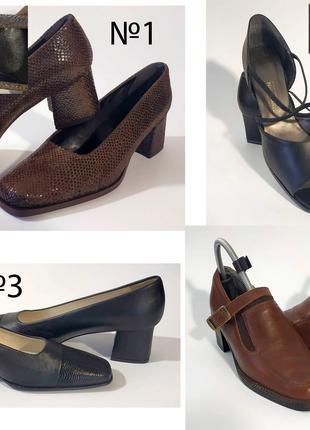 Туфли женские кожаные импортные 42, 41 новые