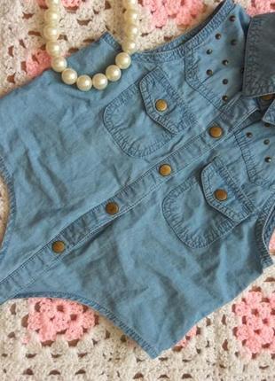 Стильная котоновая блуза на девочку 5-6 лет.  f&f
