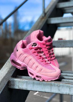 Трендовые женские кроссовки nike air max 95 pink розовые
