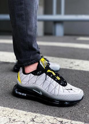Трендовые мужские кроссовки nike air max 720-98 gray серые