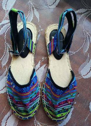 Женские эспадрильи босоножки разноцветные 39 размер от rock&rags