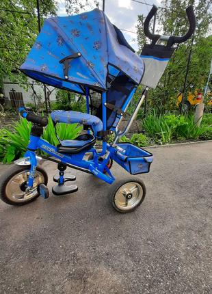 Велосипед с родительской ручкой Profi Trike, трансформер