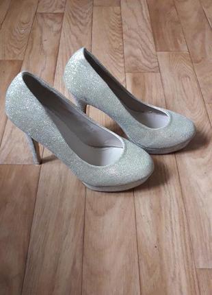 Jm diamant 38 39 золотые туфли на высоком каблуке свадьба выпу...