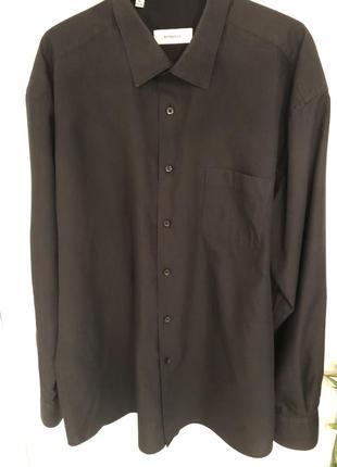 Классическая черная мужская рубашка bonjolly