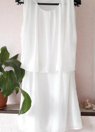 Vila clothes женское белое нарядное вечернее платье летнее пов...