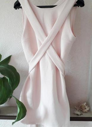 Asos нюдовое фактурное короткое нарядное вечернее платье клубн...
