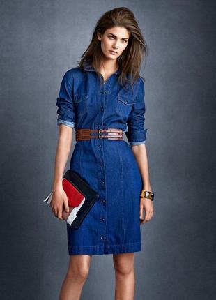 Next женское повседневное джинсовое платье с рукавом