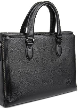Мужская кожаная сумка-портфель для документов