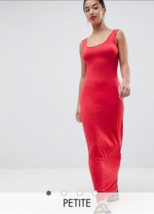 Boohoo летнее повседневное трикотажное платье сарафан макси в ...