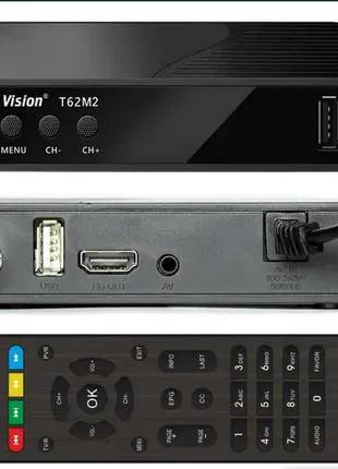 Тюнер DVB Т2 тюнер World Vision T62М2 IPTV плеер,YouTube ,Цифрово