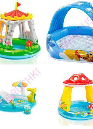 Детские бассейны, игровые центры, фонтан, горка