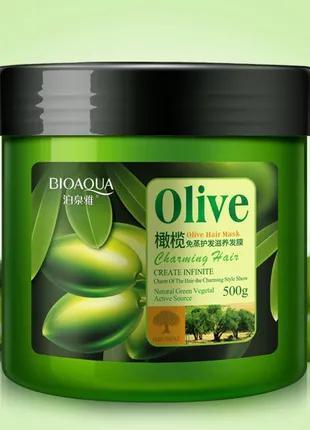 Маска для волос с маслом оливы Bioaqua Olive Hair Mask 500г