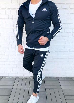 Мужской спорт костюм Adidas (черный)