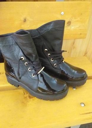 Кожаные осенние ботинки
