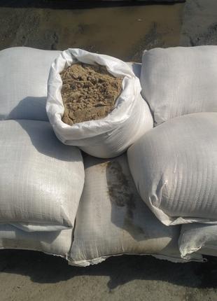 Песок фасованный в мешках по 40 кг.   14 гр