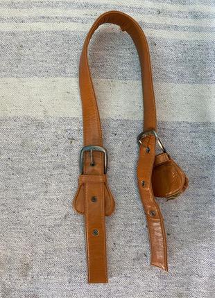 Ручка ремешок на сумку с двумя бляхами
