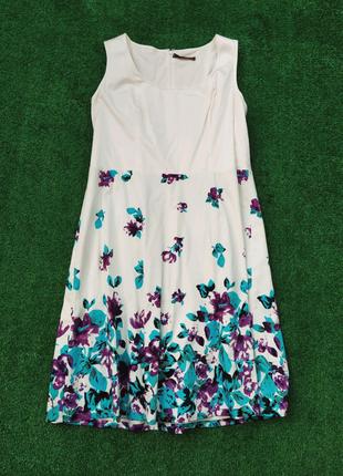 Шикарное натуральное платье большого размера батал. сарафан