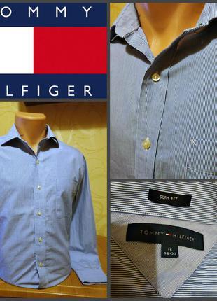 Рубашка от tommy hilfiger, оригинал, тайланд, slim fit