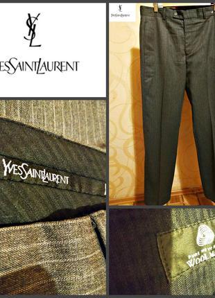 Мужские  шерстяные брюки от yves saint laurent, оригинал